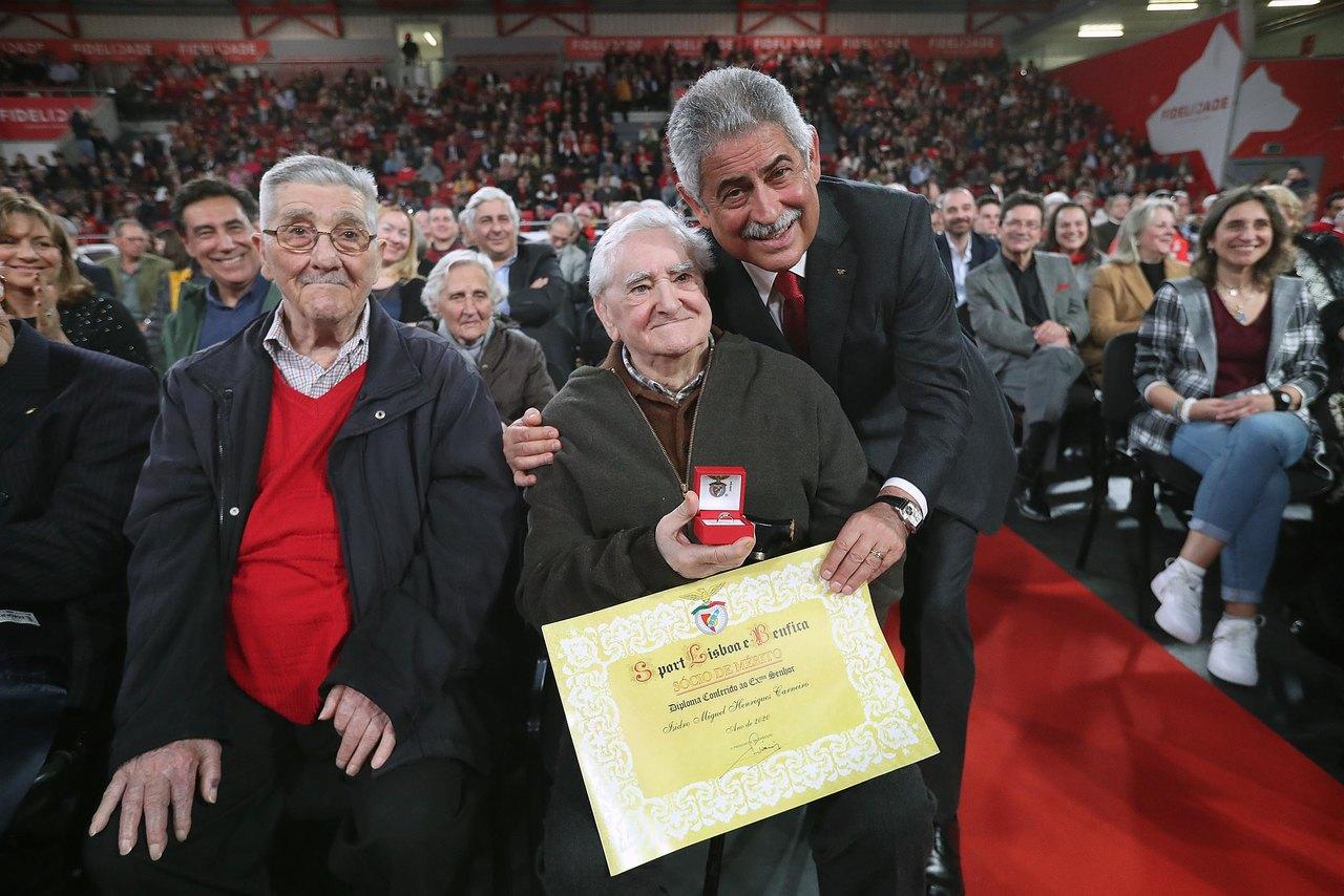 Cerimónia Anéis e Emblemas de dedicação Benfica