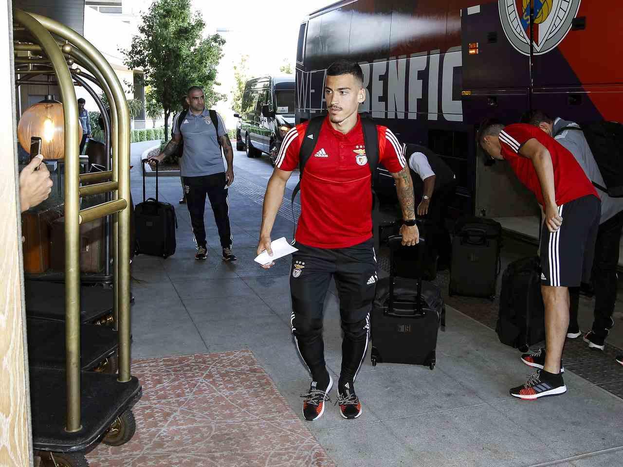 Benfica chegada aos EUA