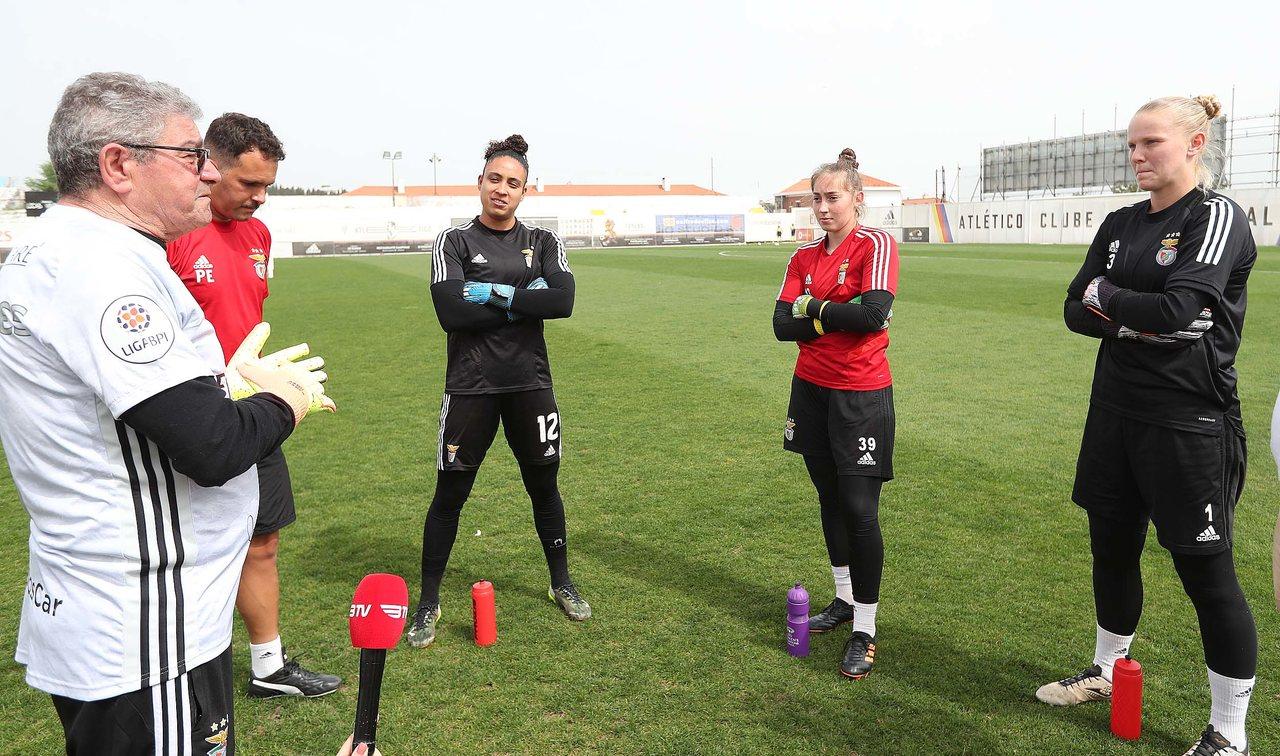 Zé Gato treino Futebol Feminino