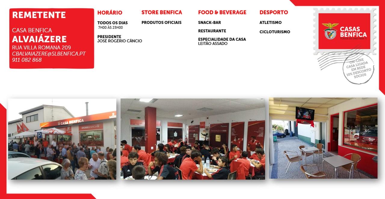 Postal   Casa Benfica Alvaiázere
