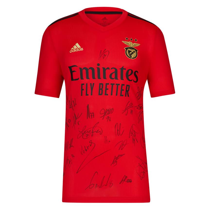Camisola Oficial do SL Benfica autografada