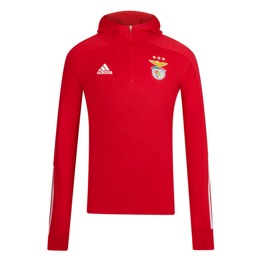 ADIDAS RED HOODED SWEATER