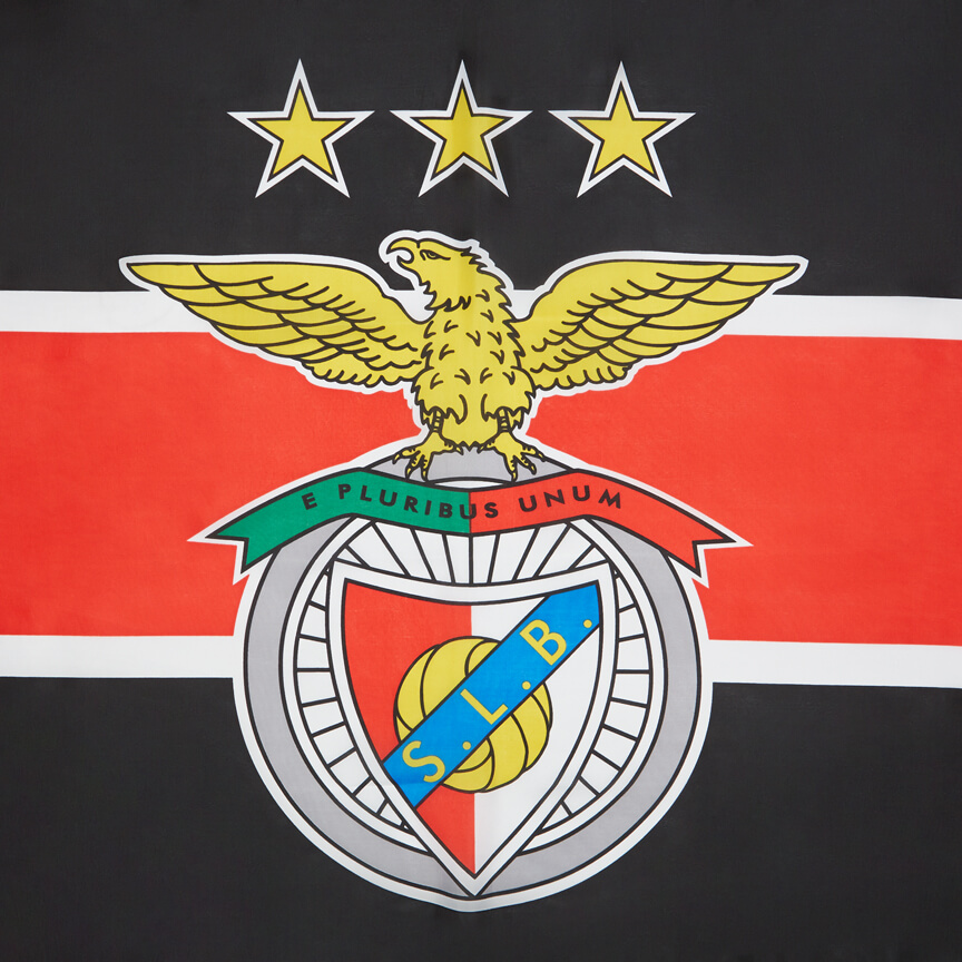 Bandeira preta e vermelha Benfica 150 x 90 cm - SL Benfica