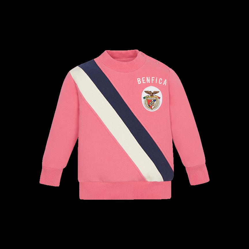 Sweat Bebé Rosa Com Faixa Vintage Benfica be20cb06309
