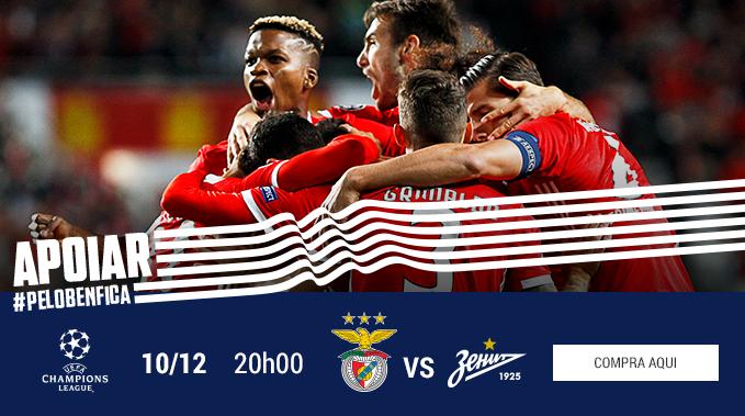 Bilhetes UCL Benfica Zenit